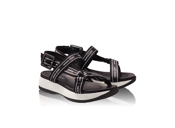 sandale sport negre Anna Cori