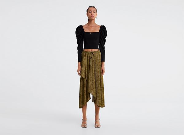 fusta clos asimetrica Zara