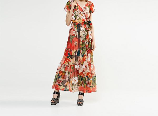 fusta maxi cu print floral BSB