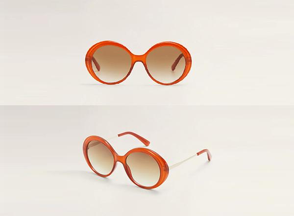 ochelari de soare oversize Mango
