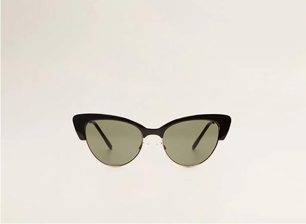 ochelari de soare retro Mango