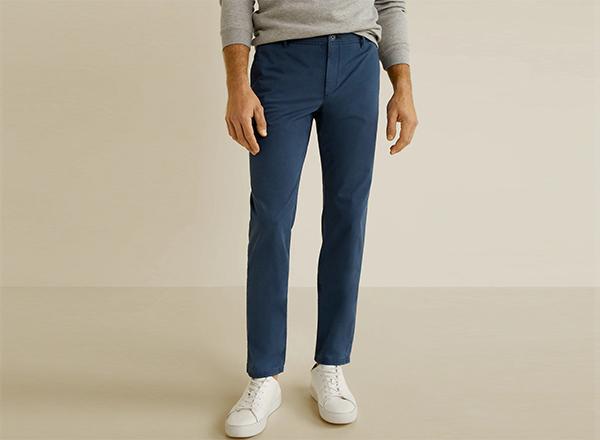 pantaloni slim fit albastri Mango Man