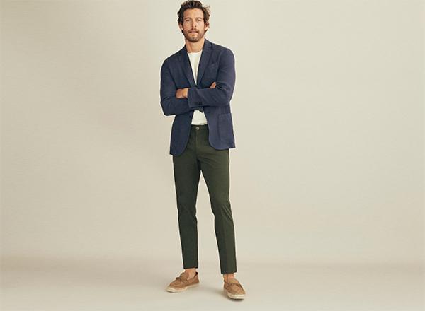 pantaloni verzi chino Massimo Dutti