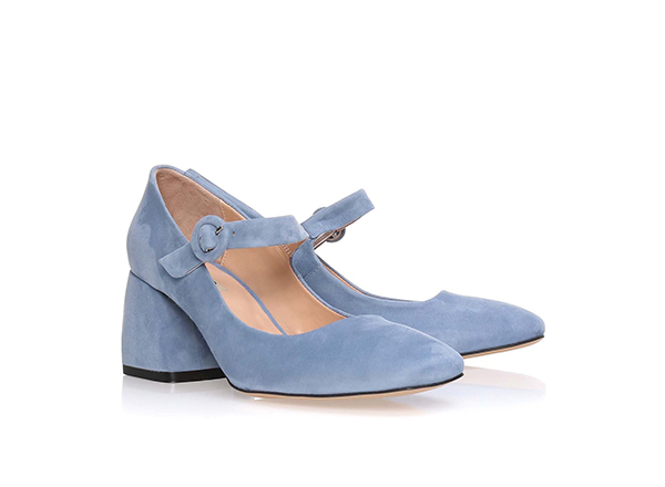 pantofi bleu cu bareta Il Passo