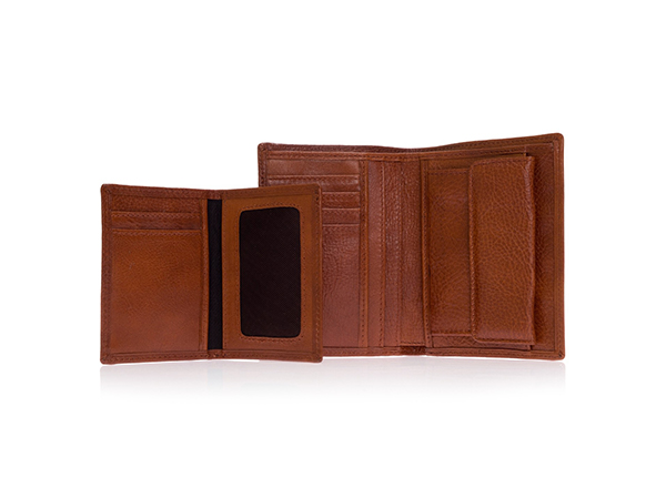 portofel din piele maro Musette