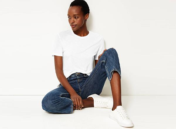 tshirt alb M&S