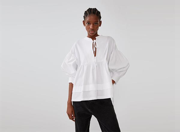 camasa din bumbac organic Zara
