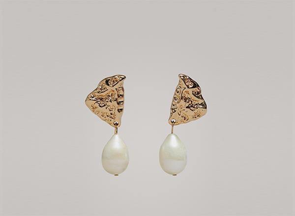 cercei cu perla Massimo Dutti