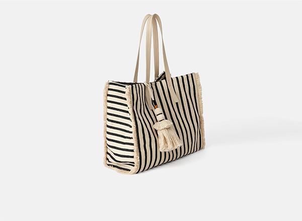 geanta cu dungi Zara