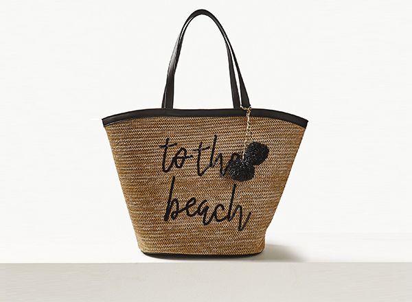 geanta din rafie To the Beach Marks&Spencer