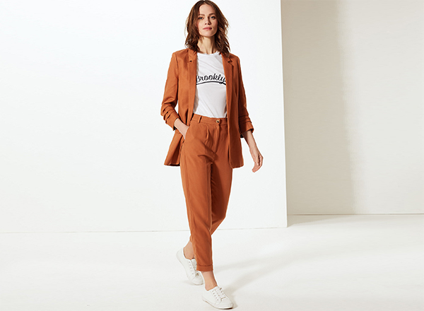 pantaloni ruginiu Marks&Spencer