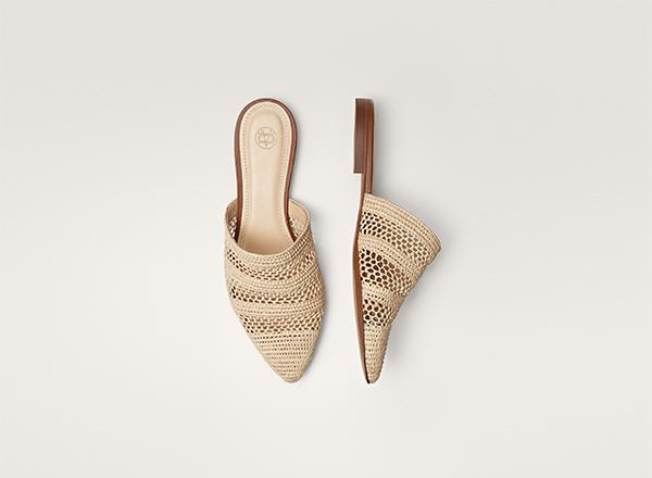 papuci din rafie Massimo Dutti