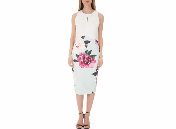 rochie cu print bujori Ted Baker Collective