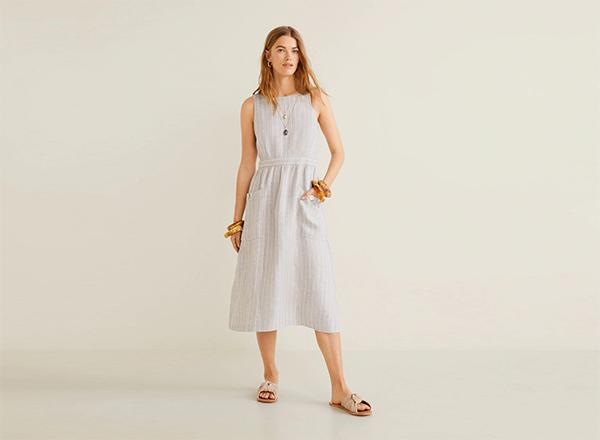 rochie din in Mango