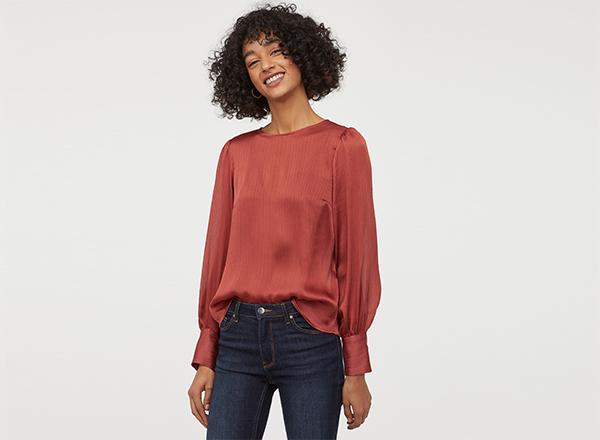 bluza creponata H&M