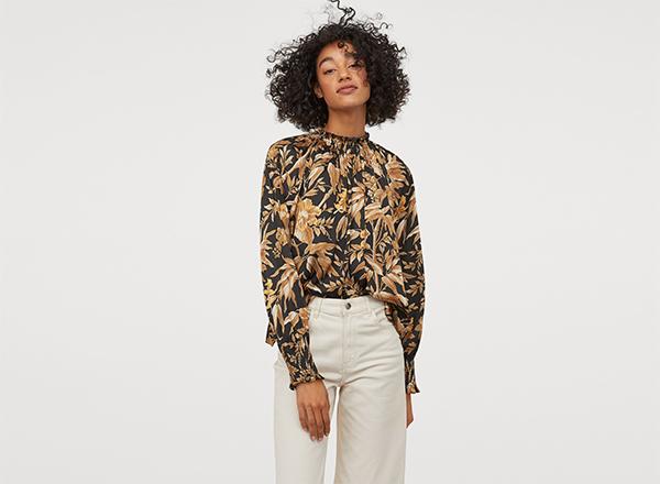 bluza cu flori de toamna H&M
