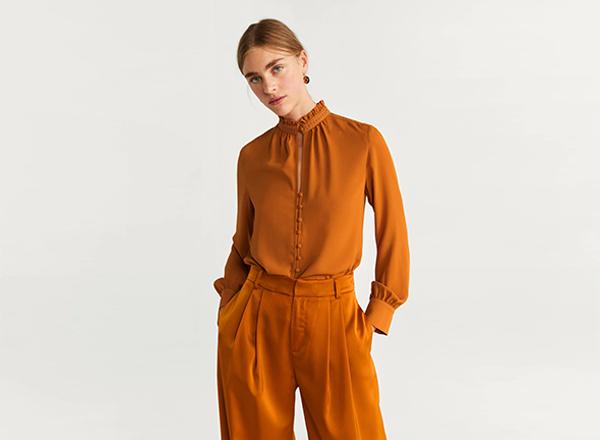bluza cu guler inalt Mango