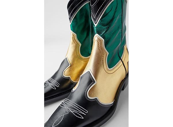 cizme cowboy colorate Zara