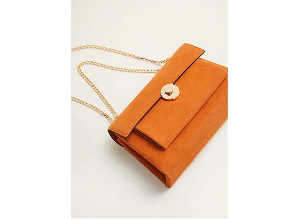 geanta din piele Mango