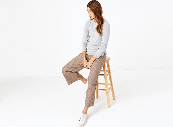 pantaloni in carouri M&S