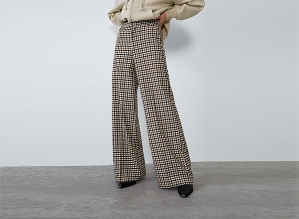 pantaloni in carouri Zara