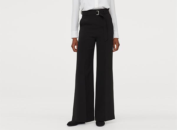 pantaloni largi cu curea H&M