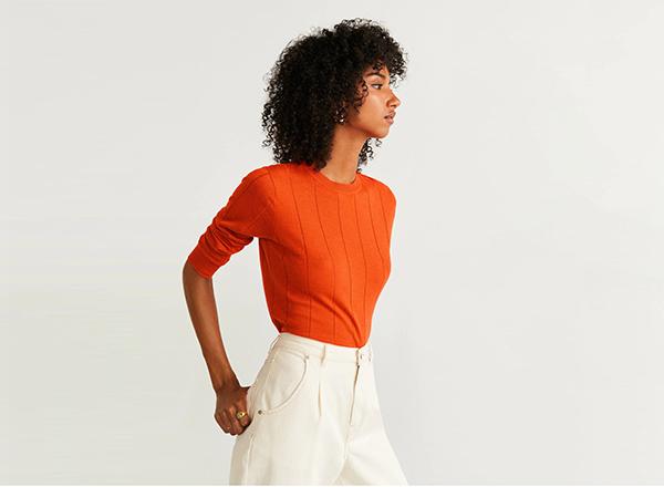 pulover subtire Mango