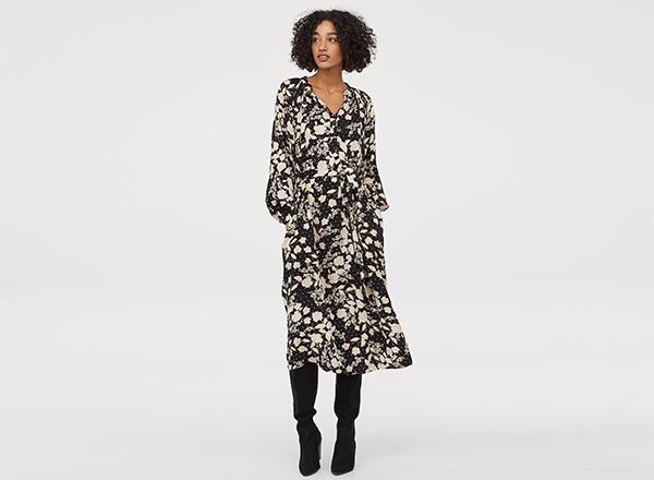 rochie camasa cu cordon H&M
