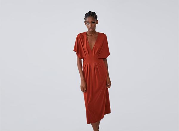 rochie cu pense Zara