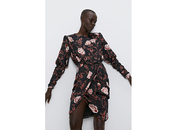 rochie drapata Zara