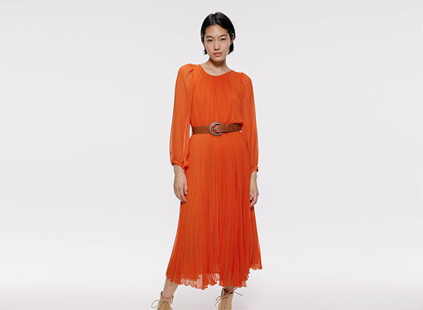 rochie incretita din voal Zara