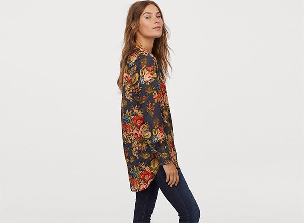 bluza cu imprimeu de toamna H&M