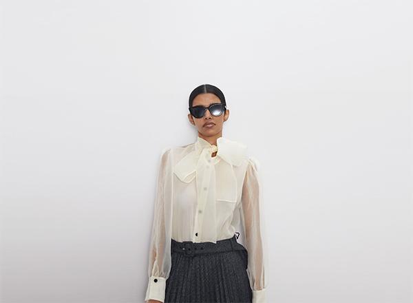 bluza din organza Zara