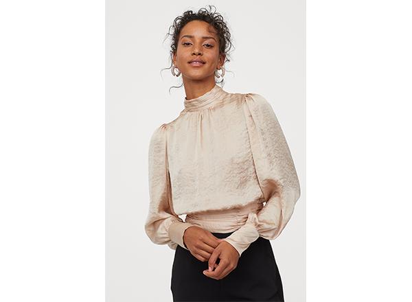 bluza satinata bej H&M