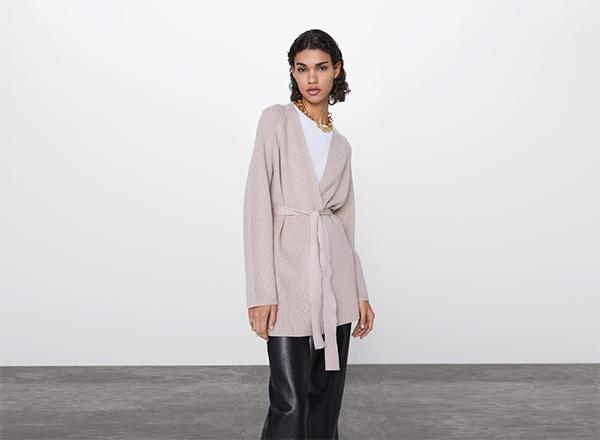 cardigan minimalist Zara