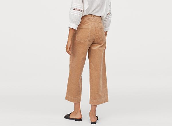 culottes catifea reiata H&M
