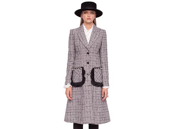 palton in carouri gri Nissa