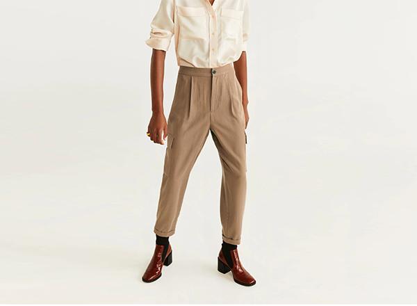pantaloni cargo Mango