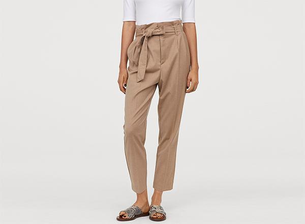 pantaloni cu pliuri H&M