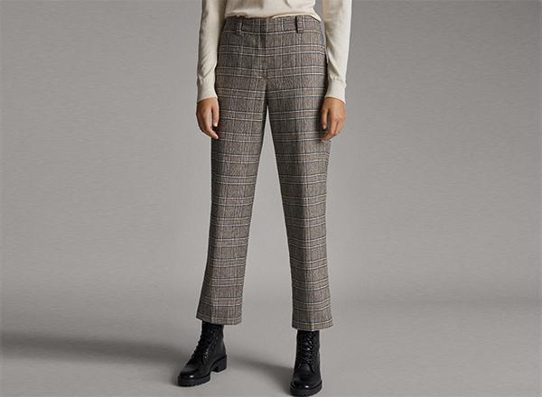 pantaloni tigareta Massimo Dutti