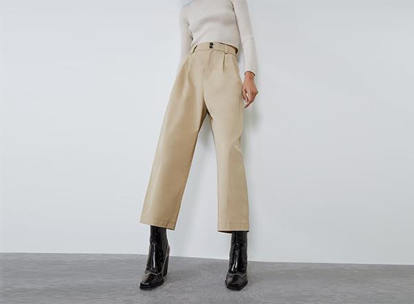 pantaloni tip culottes Zara
