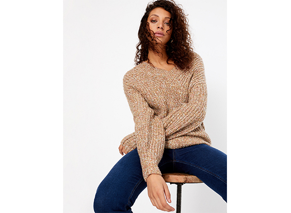 pulover cu decolteu in V MS
