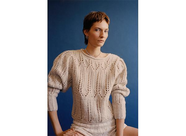 pulover cu maneci bufante Zara