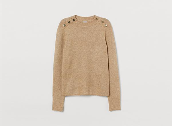 pulover cu nasturi aurii H&M