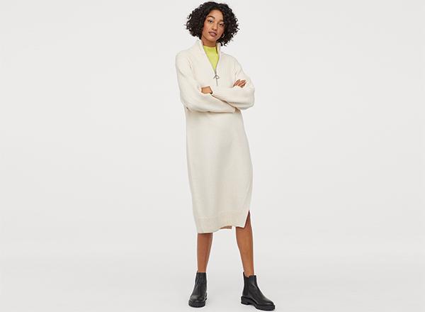 rochie alba cu fermoar Pringle X H&M