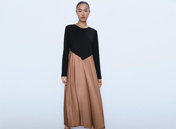 rochie bi-colora Zara