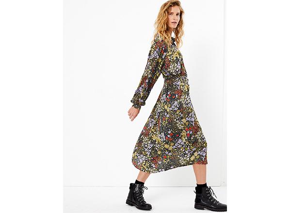 rochie cu imprimeu de toamna M&S