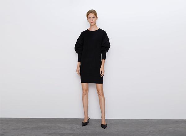 rochie cu maneci oversize Zara
