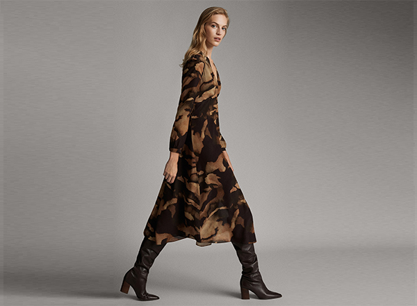 rochie cu print camuflaj Massimo D