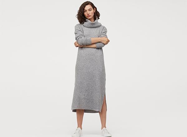 rochie maxi gri H&M